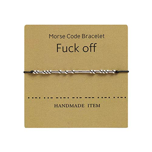 HEIGOO Morse couple bracelet,Adjustable Friendship Bracelet Gift,Use for Birthday Gifts, Graduation Gifts