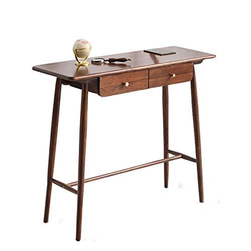 Mesa de porche de madera maciza con cajones, mesa larga de patas altas para decoración del hogar contra la pared, porche de pasillo estrecho, mesa de sofá de sala de estar, utilizada en pasillos