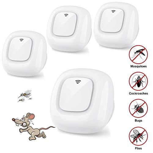 HOSPAOP Ultraschall Schädlingsbekämpfer, Ultrasound Moskitoschutz Mäuseabwehr, Elektronische Insektenschutzmittel & Innenräumen Schädlingsbekämpfung Pest Repeller für Kakerlaken, Mäuse,Ameisen