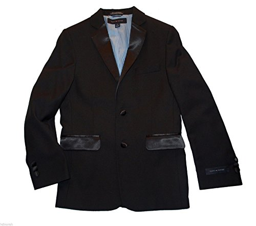 Tommy Hilfiger Kids Boys Tuxedo Black Blazer Jacket (16)