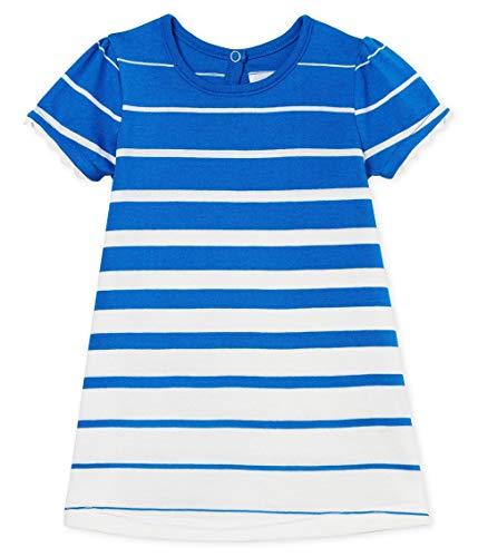 Petit Bateau Beauty, Robe Bébé fille, Bleu (Riyadh/Marshmallow 01), Nouveau-né (Taille fabricant: 12 mois)
