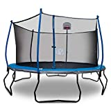 Bounce Pro 14' Trampoline with Safety Enclosure and Basketball System