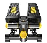 MGIZLJJ Máquinas de Step Health & Fitness Mini Stepper Multi-función Stepper/Stepping Training con Resistencia Ajustable Escalera Stepper De pie Bicicleta estática Mini Entrenador elíptico Pedal de
