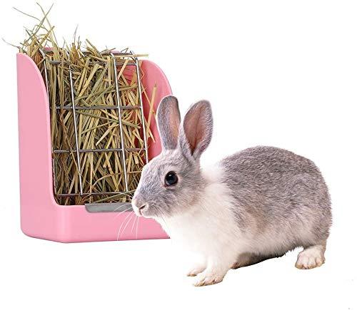 Heuspender, Meerschweinchen Kaninchen Heu Kiste, Rabbit Hay Feeder, tragbarer Heuhaufen Hängender Kaninchenkäfig Heuraufe Kragenhalter für Kaninchen Meerschweinchen Chinchilla Hamster Kleintiere