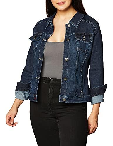 Wrangler Authentics Women's Stretch Denim Jacket, Drenched, X-Large