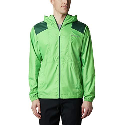 Columbia Flashback Windbreaker Veste Coupe-Vent Homme, Vert (Green Boa, Rain Forest), XL