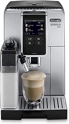 De'Longhi Dinamica Plus Perfetto ECAM370.85.SB, Macchina Automatica per Caffè in Chicchi, 1450 W, Sistema LatteCrema per Cappuccini Automatici, 1.8 L, Colore Silver Black
