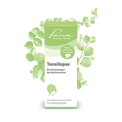 Pascoe® Tonsillopas: bei Halsschmerzen, Mandelentzündung & Schluckbeschwerden - lindert bei Erkältungen Entzündungen im Hals - beim 1. Kratzen im Hals - für jede Hausapotheke & Reiseapotheke (50 ml)