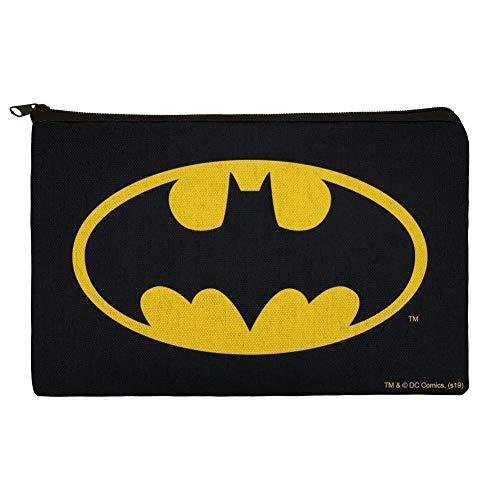 Batman Classic Bat Shield Logo Pencil Pen Organizer Zipper Pouch Case