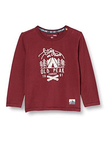 Noppies Baby-Jungen B LS Elliot T-Shirt, Dusty Red-P597, 56