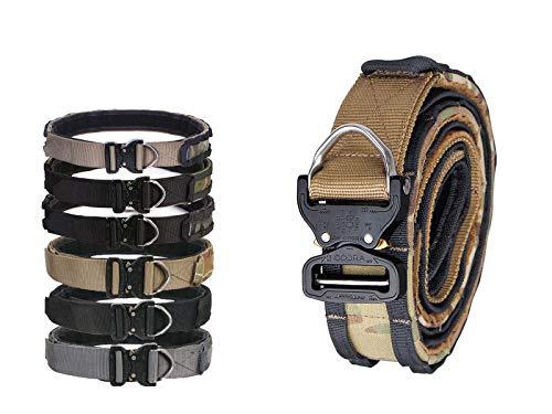 Cobra Riggers Belt D-Ring Molle 1.75-2inch Combat Amy Hunting Belt (M, Black)