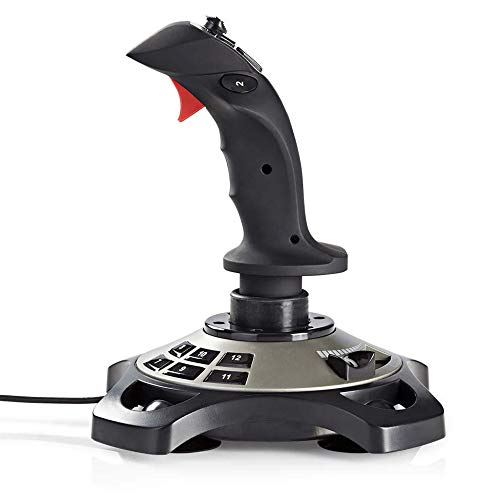 Combusters Gaming USB Joystick Vibrationsfunktion Highend Gamer Controller PC Computer