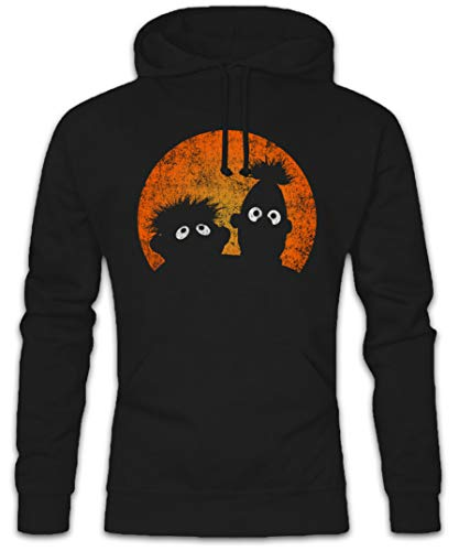 Urban Backwoods E & B Puppets Hoodie Kapuzenpullover Sweatshirt Schwarz Größe XL