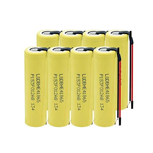 yfkjh 18650 HE4 3,7 V 2500 mAh batería recargable, 35 A batería de alta descarga DIY para linterna, 8 unidades