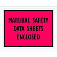Ship Now Supply SNPL422 Material SAFETY Data Sheets Enclosed Envelopes 7 x 5 1/2 5width 7 Length Red/black (Pack of 1000) [並行輸入品]