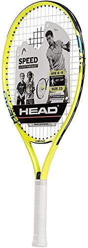 HEAD Speed Kids Tennis Racquet - Beginners Pre-Strung Head Light Balance Jr Racket - 23 Inch, Yellow