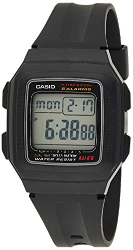 Casio Men's F201WA-1A Black Resin Digital Sport Watch