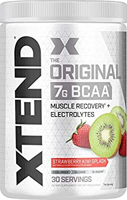 XTEND Original BCAA Powder Strawberry Kiwi Splash   Sugar Free Post Workout Muscle Recovery Drink with Amino Acids   7g BCAAs for Men & Women   30 Servings