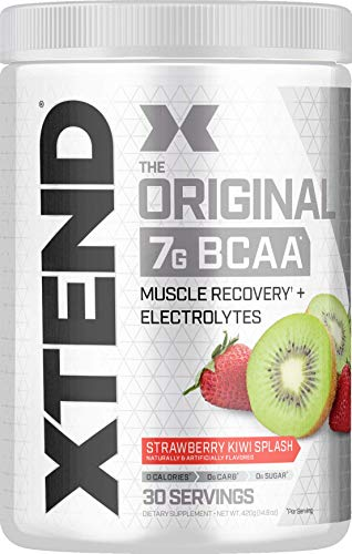 XTEND Original BCAA Powder Strawberry Kiwi Splash | Sugar Free Post Workout Muscle Recovery Drink with Amino Acids | 7g BCAAs for Men & Women | 30 Servings