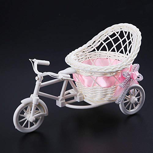 NA Jarrón Jardín Triciclo Bicicleta Cesta Jarrón boda Oficina Mesa Almacenamiento Hogar Decoración Flores Herramientas Dormitorio Jarrones