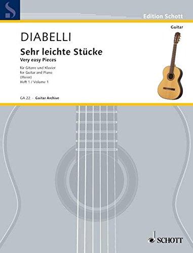 Sehr leichte Stücke: Vol. 1. Gitarre und Klavier. (Edition Schott)