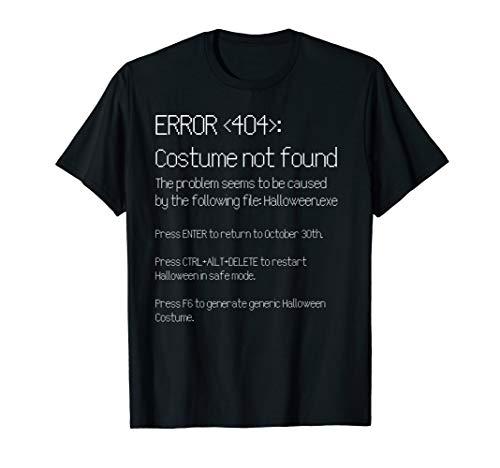 FEHLER 404: KOSTÜM NICHT GEFUNDEN Easy DIY Halloween Kostüm T-Shirt