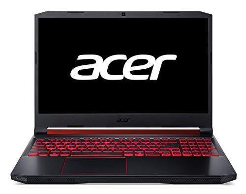 "Acer Nitro 5 - Ordenador portátil Gaming 15.6"" FullHD (Intel Core i7-9750H, 8GB RAM, 1TB HDD+128GB SSD, Nvidia GTX1650-4GB, Windows 10 Home)  Negro - Teclado Qwerty Español"