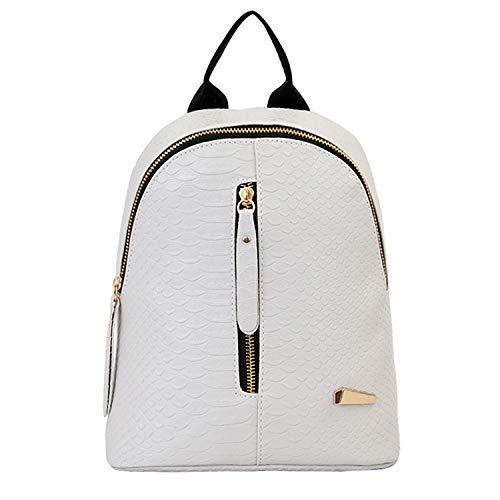 Fashion Damen Leder-Rucksäcke Schulranzen Reisetasche Outdoor Bag, Gy - Größe: Einheitsgröße