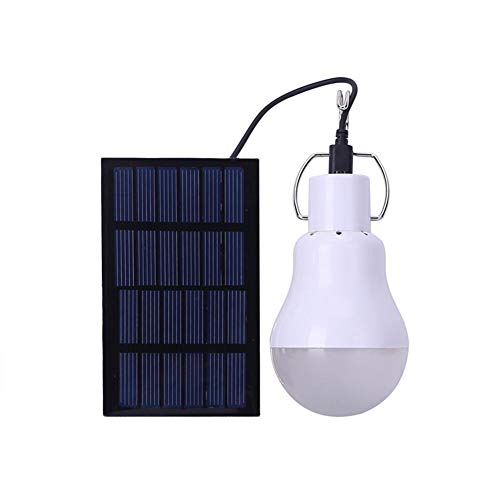 QOUDU Solarlampe, Solar-LED-Glühbirne, Tragbares LED-Licht, Lichter Mit Sonnenkollektor Für Camping, Angeln, Notfall, Schuppenhof, Outdoor, Garten