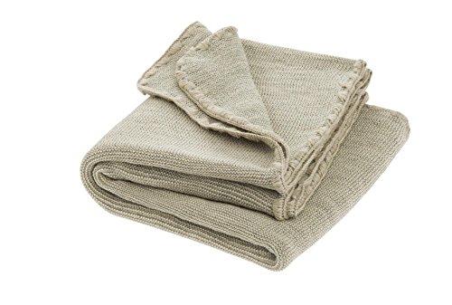 Disana Melange-Babydecke Wolle, Größe: 80x100 cm, Grau/Natur Melange, 80x100 cm