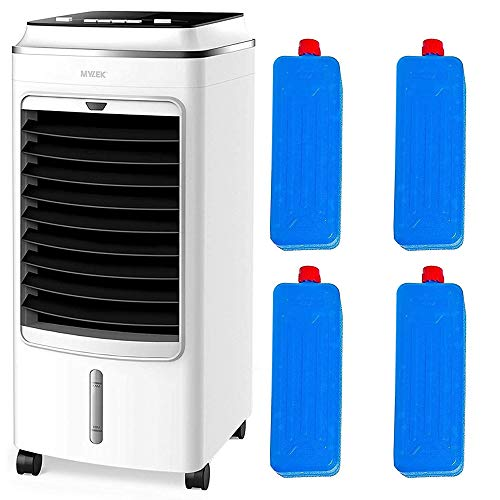 MYLEK Portable Air Cooler for Home, Evaporative Mobile, 3 Fan Speeds, Cooling Humidifier & Oscillation Function