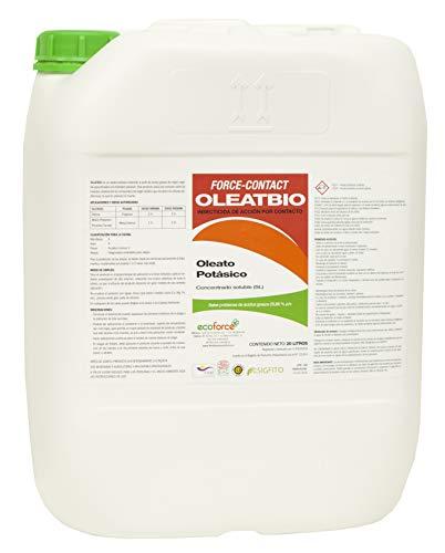 CULTIVERS Jabón Potásico de 20 l. Insecticida Ecológico con Registro para Agricultura. Actua por Contacto. eficacia contra: Mosca Blanca, araña roja, Trips, cochinillas o pulgones