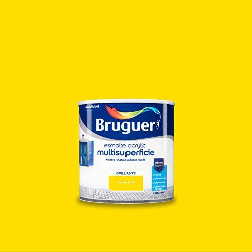 Bruguer Acrylic Multisuperficie Esmalte al agua Brillante Amarillo Limón 250 ml