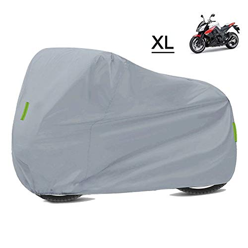 ZC Moto Impermeable Universal Motorcycle Funda Impermeable y a Prueba de Polvo 210D Paño Oxford de Oxford Adecuado para Honda Suzuki Kawasaki Yamaha BMW KTM (Color : Silver XL)