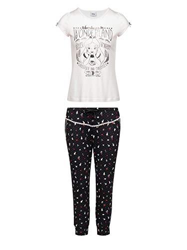Vive Maria Meets Alice in Wonderland My Little Pyjama weiß/schwarz, Größe:XL