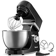 Multifunktions Küchenmaschine - 1000W - 6 Rührstufen - 4 Zubehörteile Inbegriffen - H-Rührbesen - Schneebesen - Knethaken - Elektrische Rührmaschine - Rezepte