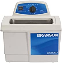 Branson Ultrasonics CPX-952-217R Series MH Mechanical Cleaning Bath with Mechanical Timer and Heater, 0.75 Gallons Capacity, 120V