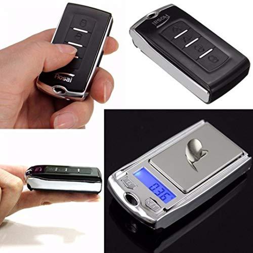 YSHtanj Digitale Waage, getarnte Waage, Digitalwaage, 200 g / 0,01 g, tragbar, Mini-Waage, elektronische Waage, Autoschlüsselanhänger, Schlüsselanhänger, Schlüsselanhänger-Waage