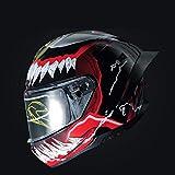 BAIMENG Personalidad modificada Motocicleta Moto Venom Casco calcomanía gráficos Vinilo película Envoltura Pegatina superpuesta Accesorios de decoración