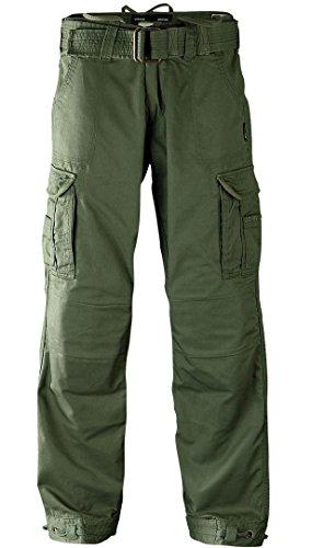 John Doe Regular Cargo motorbroek met Kevlar inzetbare beschermers | Ademend motorfiets cargo broek met zijzakken Olive