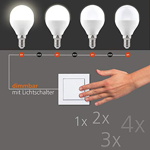 LED Switchmo dimmbares E14 Leuchtmittel 250lm 3,5 W warmweiss