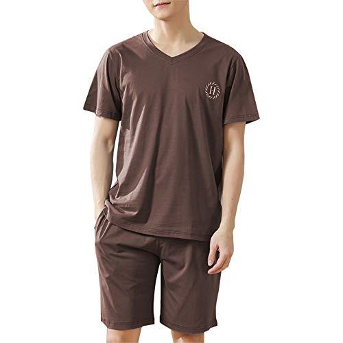 パジャマ メンズ 夏 半袖 ルームウェア 部屋着 ポケット付き 軽い 薄手 快適 軽い 薄手 上下セット