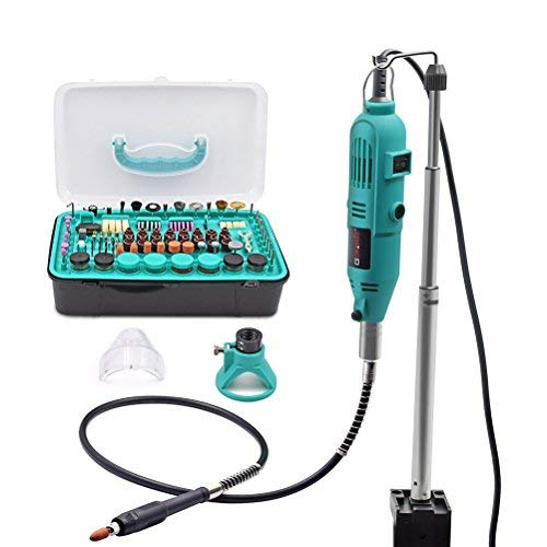 GOXAWEE Multifunktionswerkzeug, 130W Mini Schleifer mit 288 Zubehör für Schneiden/Polieren/Schaben/Gravieren/Bastel- & DIY-Projekt