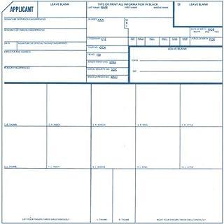 Identicator Brand Fingerprint Cards - Pack of 5 cards