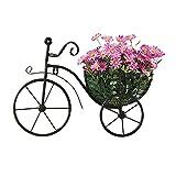 Schmiedeeisen Wanddekoration Retro Fahrrad Blumenkorb für Zuhause Wohnzimmer Schlafzimmer Dekoration