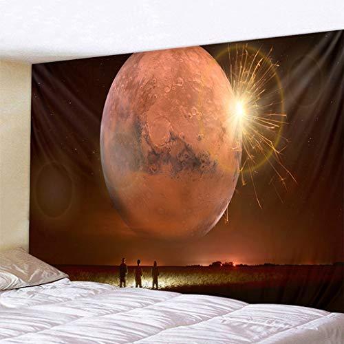 MIASDUANFA tapizBelleza Luna Noche Paisaje Gran Tapiz Colgante de Pared Impreso decoración del hogar Tapiz Dormitorio Tapiz Tapiz de Sala de Estar