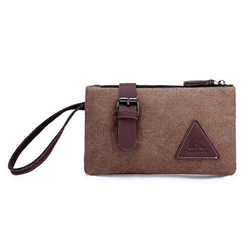 Canvas tas mannen grote capaciteit envelop hand pak tas mode casual portemonnee telefoon tas