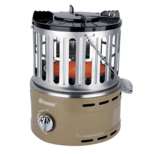 GXFC TT100 Radiant LPG Gas heater, Multi-function Cooking Stove, Portable Indoor or Outdoor Camping Ice fishing, Infrared Ceramic Heating - Gray