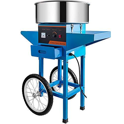 VEVOR Máquina de Algodón de Azúcar 220V Azul Algodonera de Azúcar Cotton...