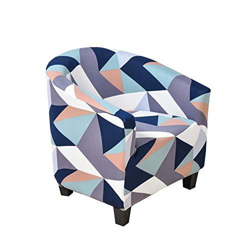 DDK Tub Stuhl Sessel, Club Chair Schonbezug, Jacquard Elastisch Wannenstuhlbezug Sesselüberwurf Sesselschoner Stretch Sofahusse, Modern Wohnzimmerdekoration #1